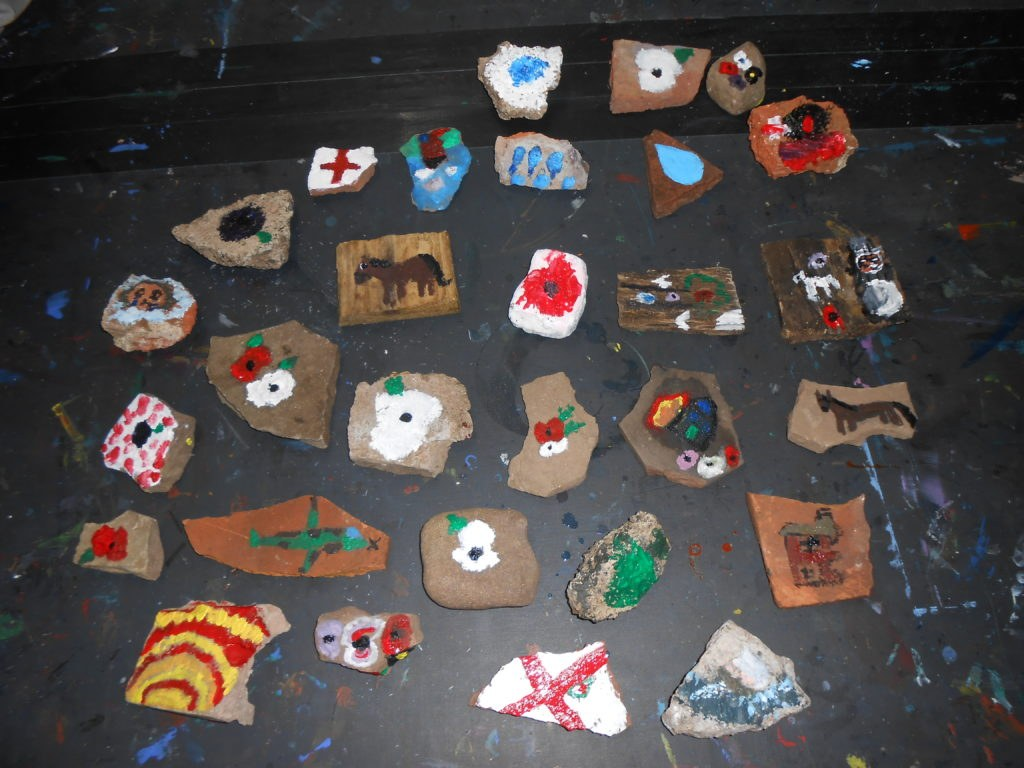 The finished stones